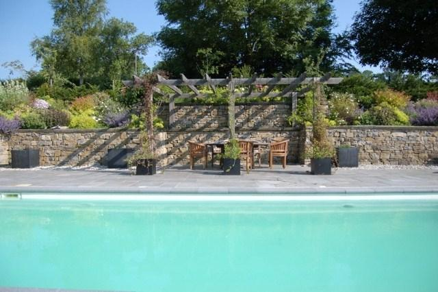 Heated outdoor swimming pool during June, July and August