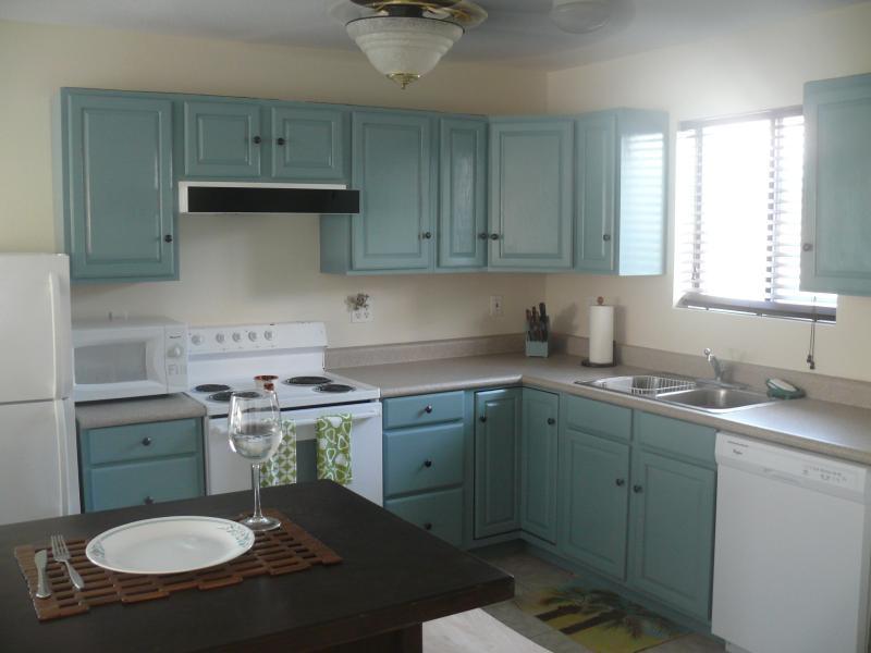 full ren kök med alla bekvämligheter, inklusive ny diskmaskin
