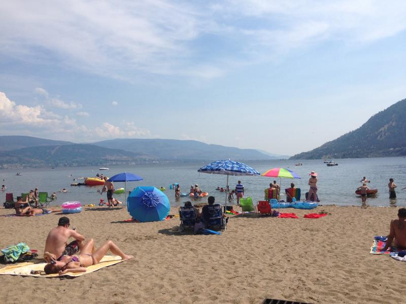 Sun Oka Beach was voted the beach beach in the Okanagan and its just 4 mins from The Viewpoint Suite