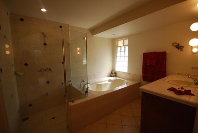 Large Master Bathroom With Shower & Over Sized Bathtub