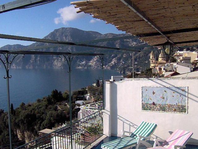 Casa Maria Cristina, large terrace with seawiew to Positano and Capri, a/c, WIFI, vacation rental in Praiano