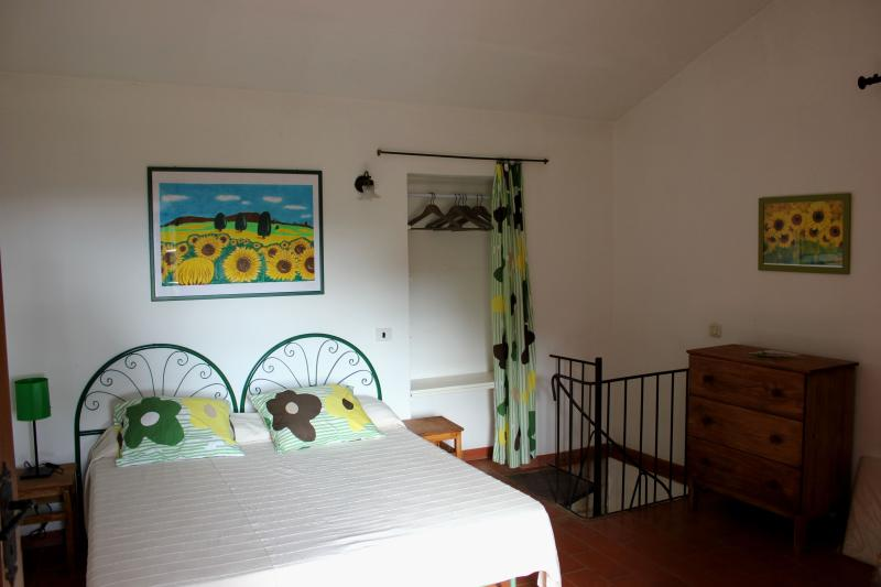 Double bedroom, wardrobe and double bed