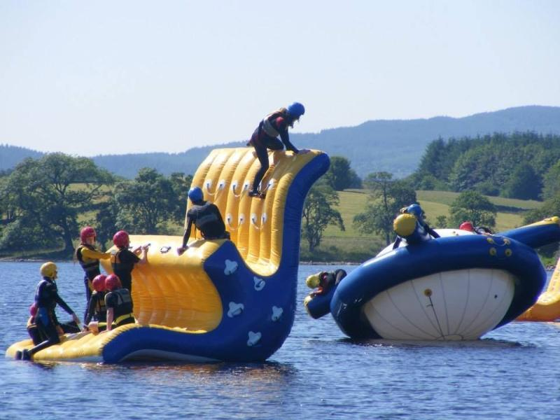 Galloway Activity Centre, Loch Ken has lots of fun things to try, off & on the loch