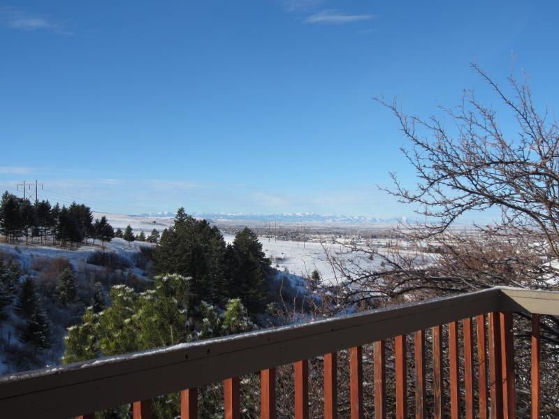 The Tobacco Root mountains and view of town from your deck