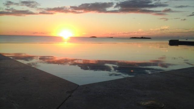 Enjoy amazing sunsets from the infinity pool