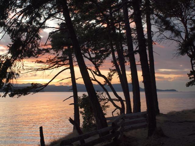 Sunset off Malaspina Point
