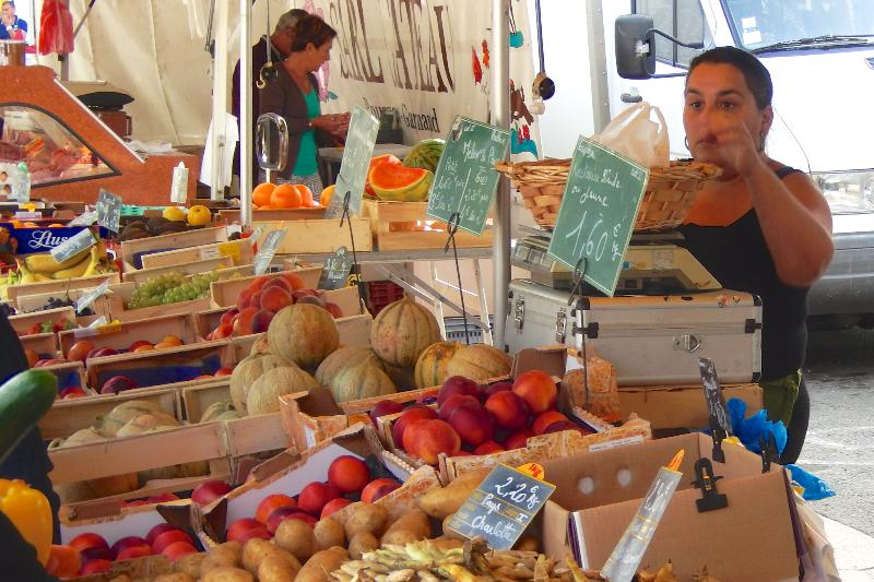 Fantastic Sunday market in nearby Aulnay