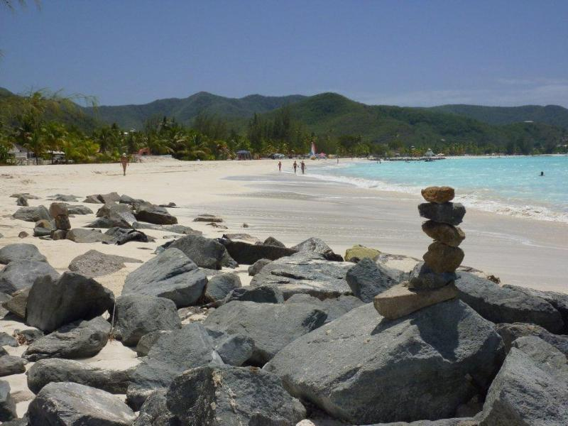 Jolly Beach with beautiful pristine white sand and wonderful sunsets