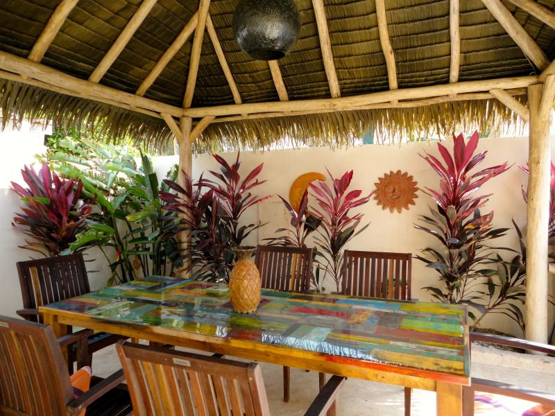 Palapa with Outdoor with lighting. Cards Anyone?
