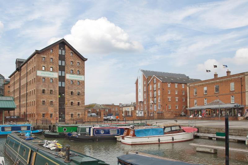 There is private gated parking for one car,and  a lift up to the penthouse with views of the Docks