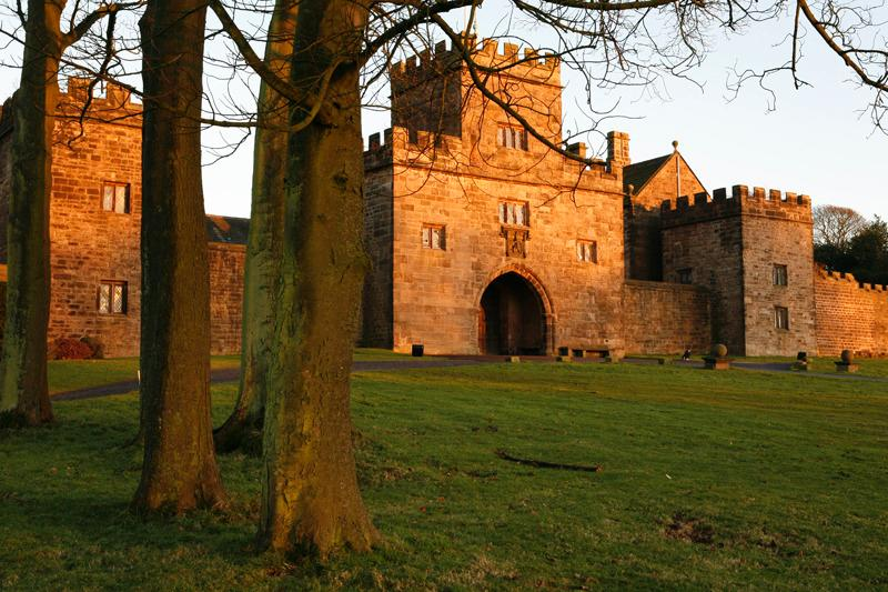 Hoghton Tower at dusk