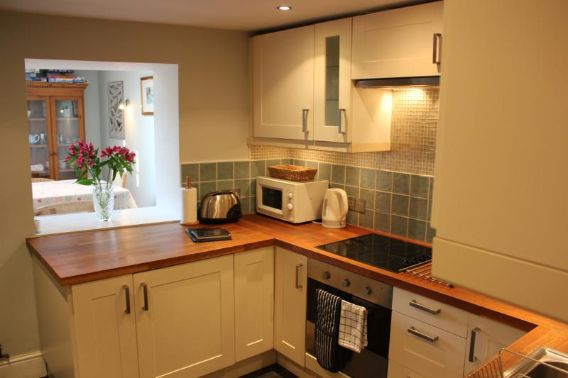 Kitchen with view to dining room