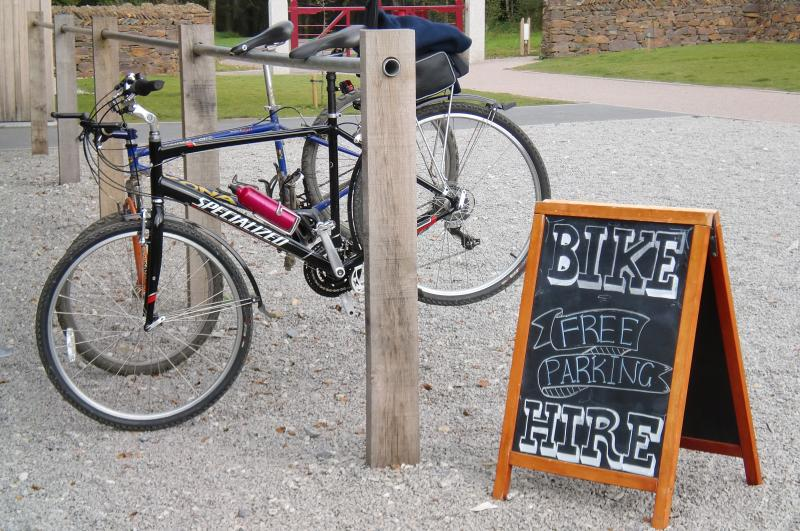 Hire a bike at Lanhydrock House, the grounds and tea rooms are wonderful! (About 30 mins by car)