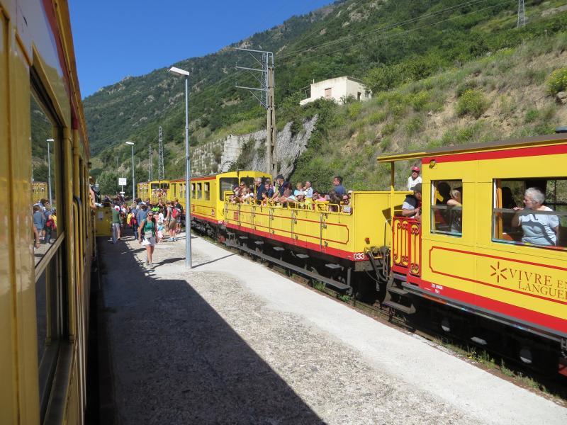 'Jaune train' visit to pyrenees