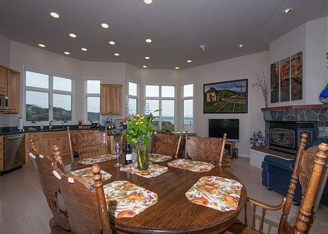 The family room boasts both harbor and ocean views.