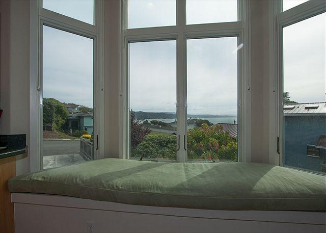 Take in the sunshine in the bay view window seat.