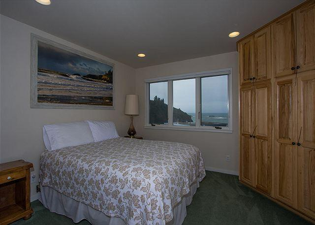 Bedroom 3 has more ocean views inside and out.