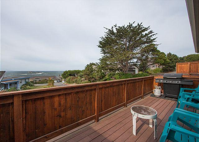 Plenty of space on the deck for everyone to enjoy the seascape.