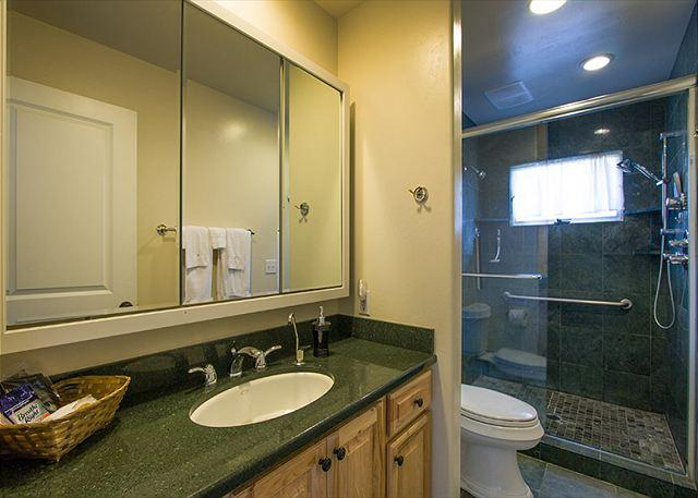 Bathroom 2 is just off of bedroom 2 & 3 with walk-in shower.