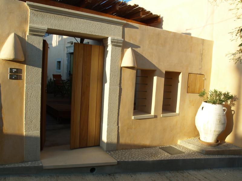 Agapi Holiday House, yard entrance.