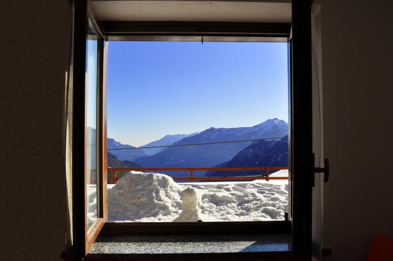 your panoramic view in winter time by the living room