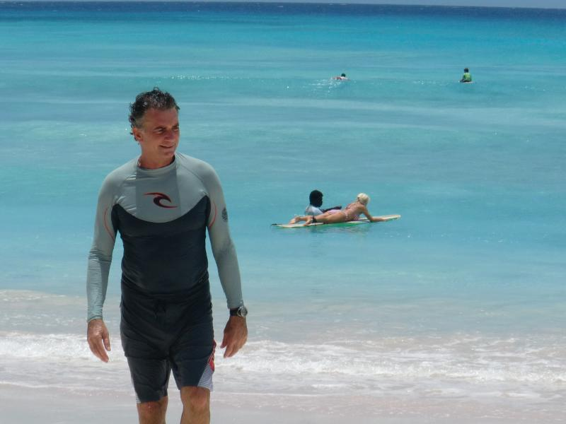 Me at 15 minutes by car...the Caribbean sea !