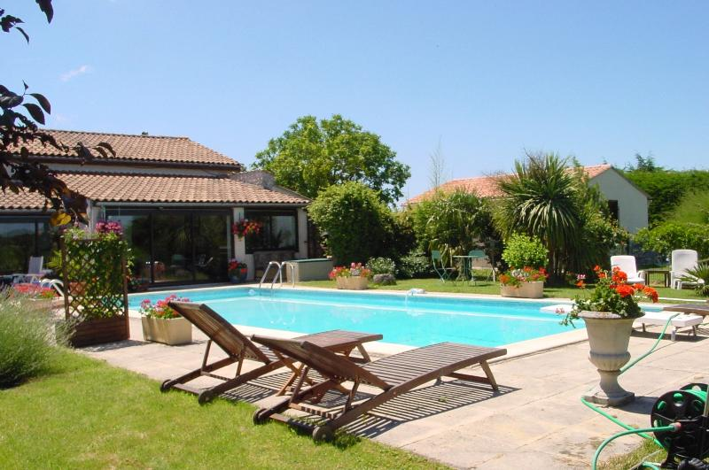 Your gite opening onto pool and garden