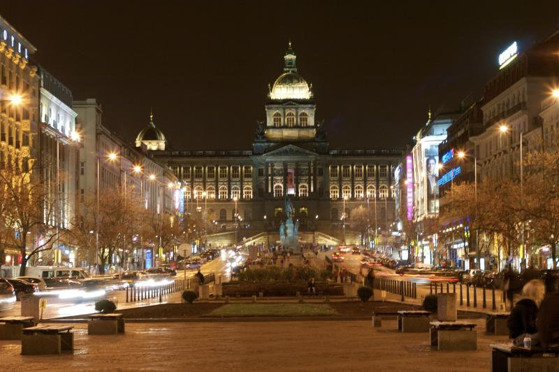 The National Museum and Wenceslas Sq. Few minutes by walk or 1 Tram or Metro stop from the apartment