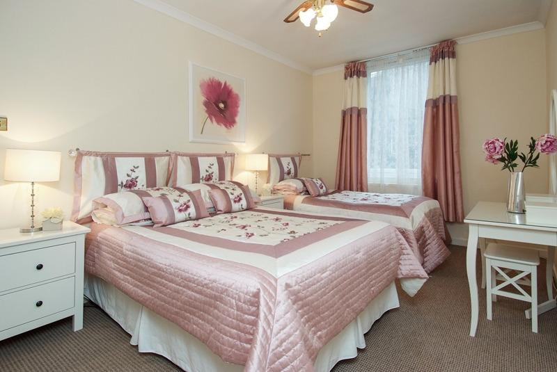 Typical master bedroom - with 2 x double beds OR double bed & single bed