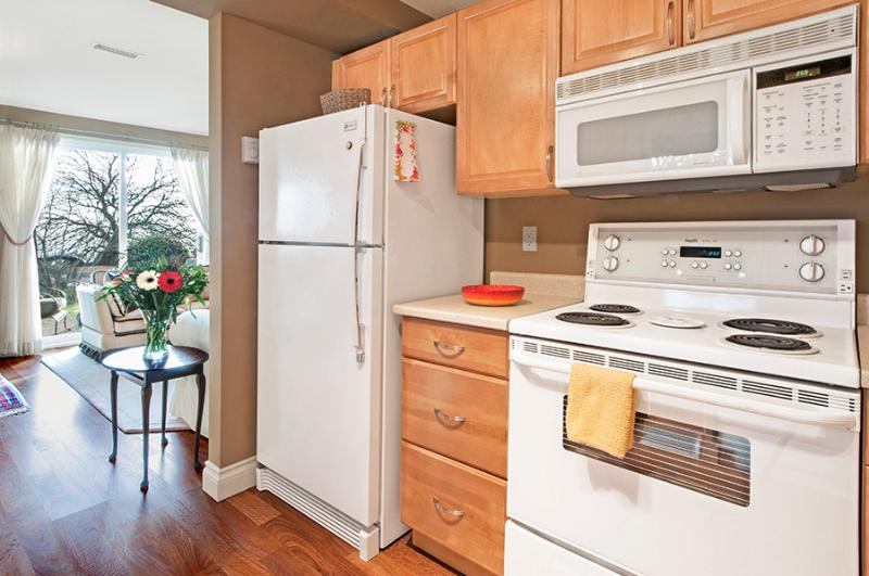 view seen from your fully equipped Kitchen  stocked with many extras to enhance your stay