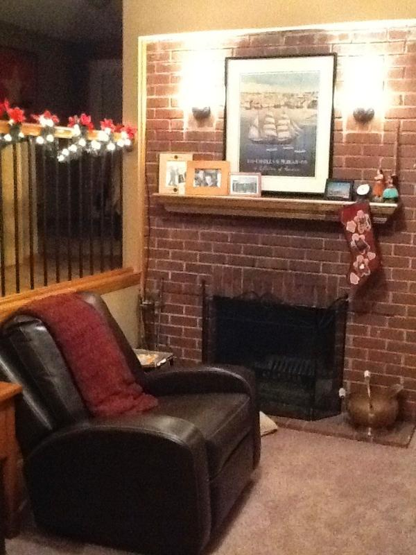 Powell Lakehouse is available in all seasons with a wood burning fireplace and an outside fire pit