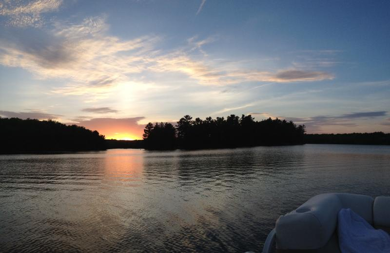 Island sunset view