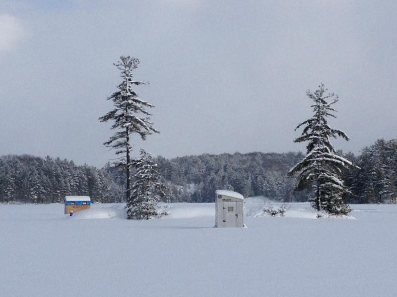 Winter on High Lake - Cross Country Skiing, Ice Fishing, Snow-shoeing. Snowmobiling