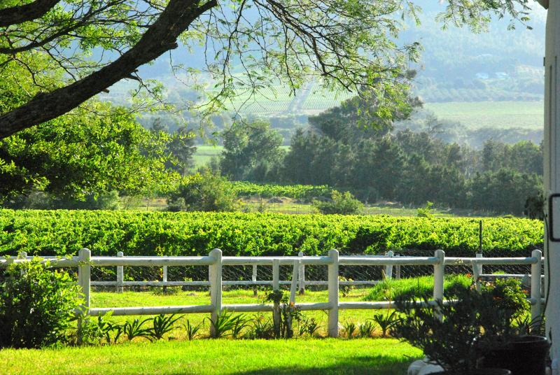 Orchard Cottage, situated on Le Vallon Farm, a quiet boutique wine farm.