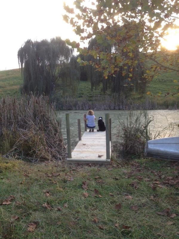 Stocked fishing pond