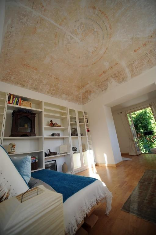 Original domed and stenciled ceiling of study/3rd bedroom