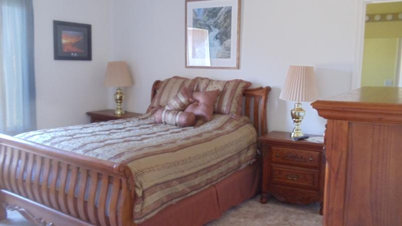 Bedroom#1 Queen with pullout twin sofa