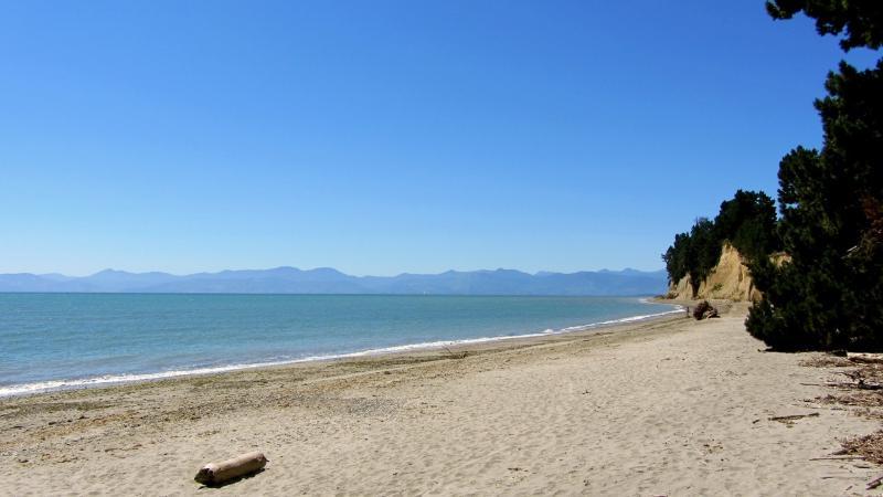 our beach with Tasman sea