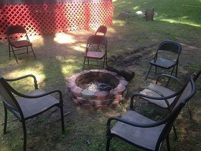 Customer built fire-pit for roasting marshmallows n stories