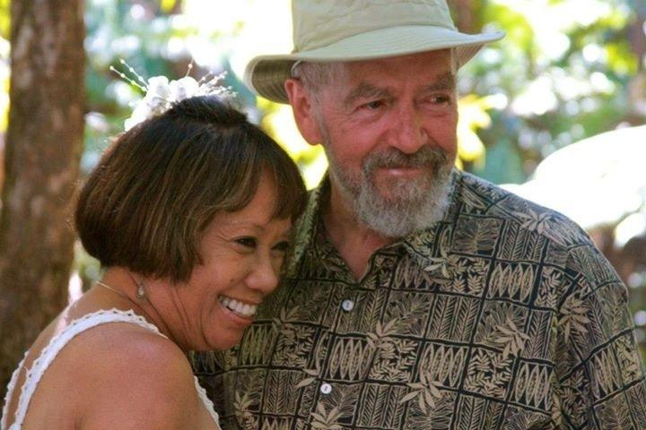John and His lovely wife Patti, managers of Ekomomai Vacation Rental in Volcano, Hawaii