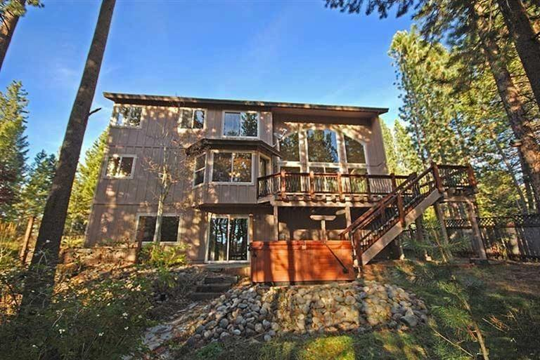 Back view of our 3 level home in South Lake Tahoe!