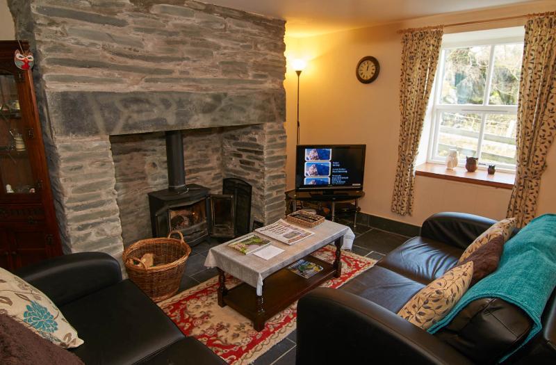 Living Room with underfloor heating and log burner
