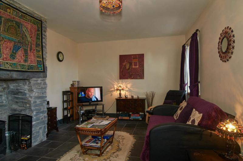 Living Room/Diner with underfloor heating, log burner and views across Llugwy Valley