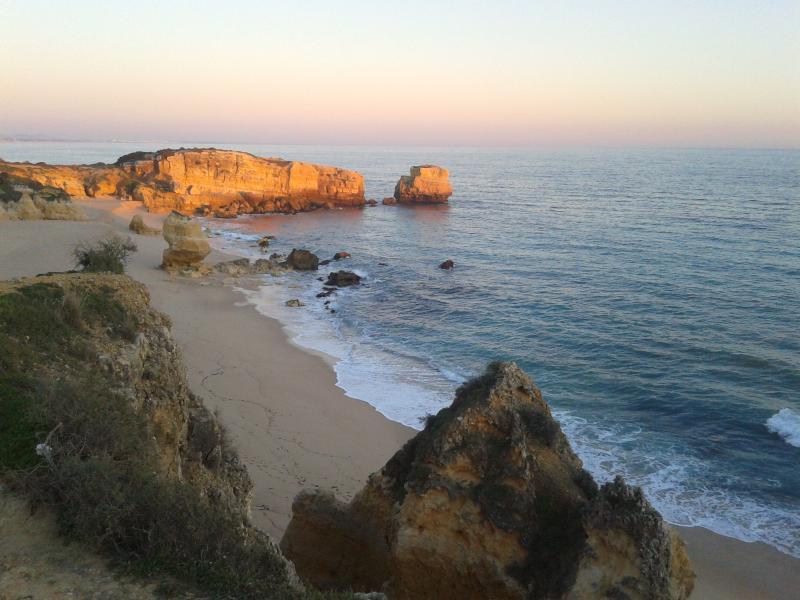 sunset at São Rafael beach