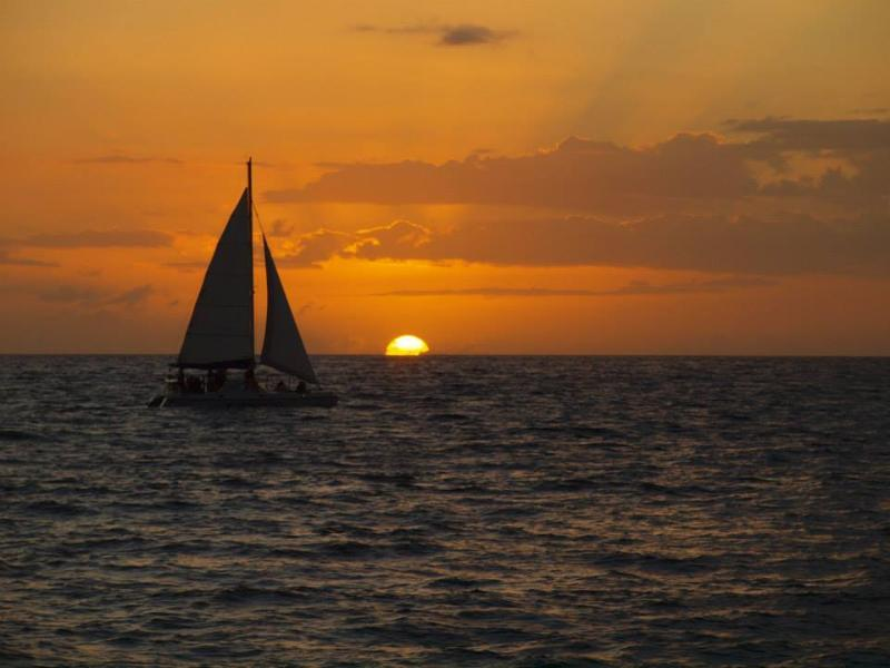 Sunset at SJ Paradise Beachfront, Rincon