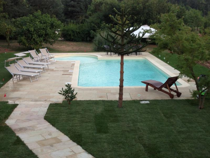 View of pool from house.