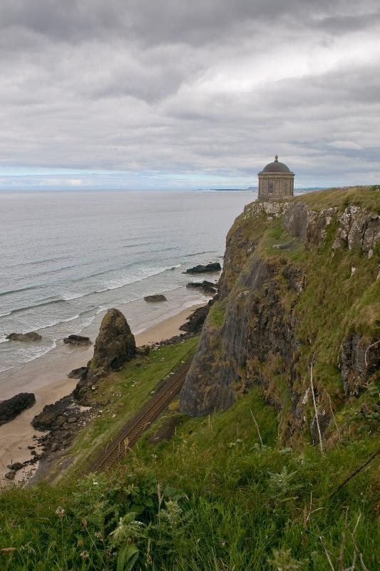 Mussenden Temple, Downhill. Favoured beauty spot for wedding photos.