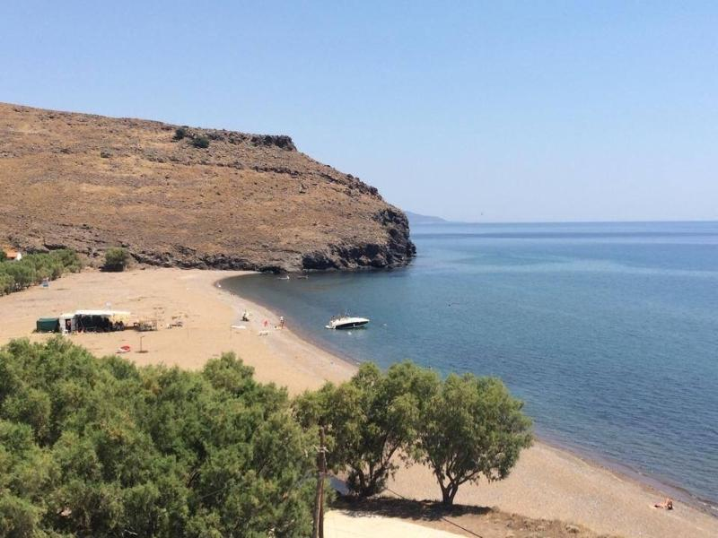 View of Podaras Beach from Aegean Blue
