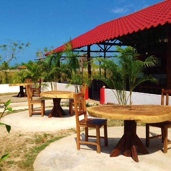 Solig terrass med bästa vinden i Pedasi