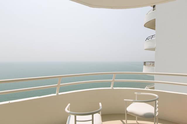 La vista desde el balcón privado.